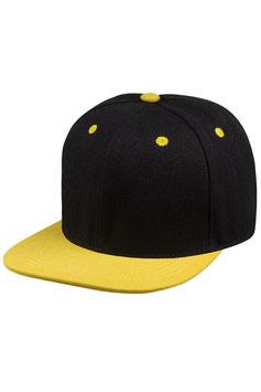 Шестипанельная двухцветная акриловая     чёрный с жёлтым козырьком
