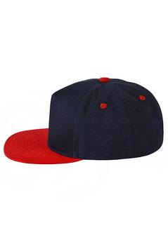 Пятипанельная двухцветная хлопковая     тёмно-синий с красным козырьком
