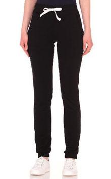 Женские спортивные штаны - черные (высокая талия)