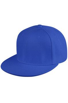 Шестипанельный снепбек из акрила      синий