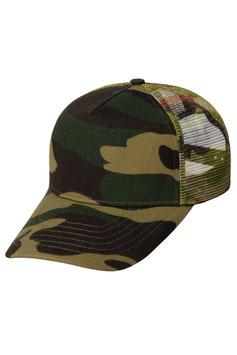 Камуфляжная пятипанельная кепка  |  зелёный камуфляж