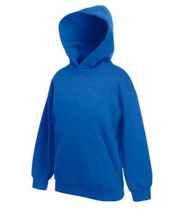 Худи  ярко-синий   | детский бланковый