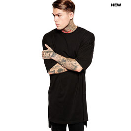 Унисекс удлиненная футболка | черная