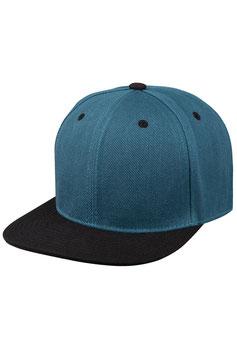 Шестипанельная двухцветная акриловая     сине-зелёный с чёрным козырьком