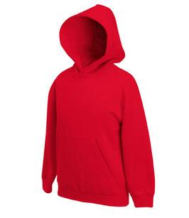 Худи  красный  | детский бланковый