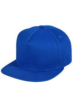 Пятипанельная однотонная хлопковая     синий