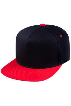Пятипанельная двухцветная хлопковая     чёрный с красным