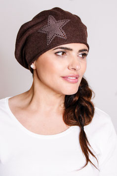 LOUISE – Beanie mit Stern-Applikation
