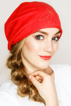 LOUISE – Beanie in rot