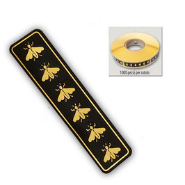 Sigillo garanzia Nero con api 1000 pezzi