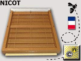 Fondo plastica antivarroa nicot con rete e cassetto