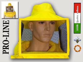 Maschera quadrata cotone gialla