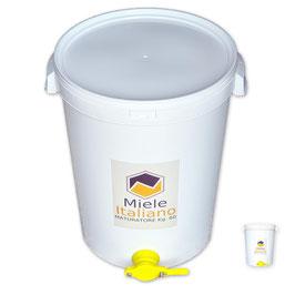 Secchiello-Maturatore in plastica alimentare con rubinetto per 60 kg. di miele