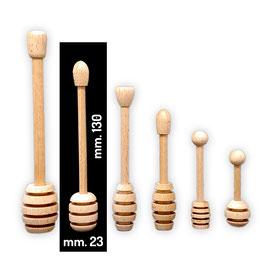 Spargimiele in legno di faggio medio mm. 130