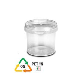 Vaso in plastica trasparente kg. 0,5 per miele