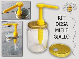Dosatore per miele giallo su capsula da 500 e 1000 gr.
