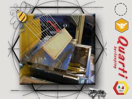 BANCO per disopercolare cm. 56x51x42 QUARTI in acciaio inox