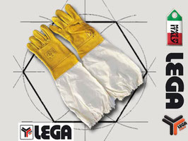 Guanti in pelle antipuntura con manichetta (Lega)
