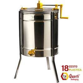 Smelatore inox 18 telaini manuale  con cestello in materiale plastico QUARTI
