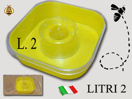 Nutritore quadro da 2 litri tipo Baravalle
