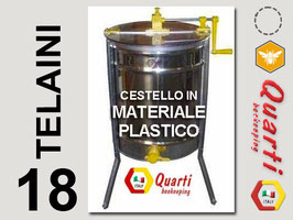 Smelatore inox 18 telaini manuale  con cestello in materiale plastico QUARTI Diametro 620 mm