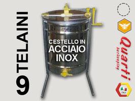 Smelatore inox 9 telaini manuale  con cestello in acciaio inox QUARTI