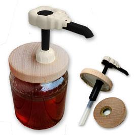 Dosamiele BeeProWood (favo bianco) e tappi in legno