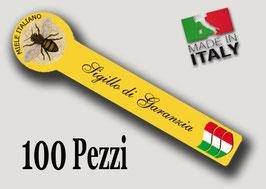 """Etichetta Sigillo garanzia """"Miele Italiano""""  100 pezzi"""