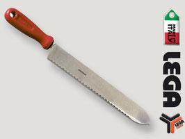 Coltello per disopercolare inox cm. 28 lama seghettata
