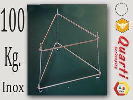 Supporto Quarti in acciaio inox per maturatore da 100 kg.