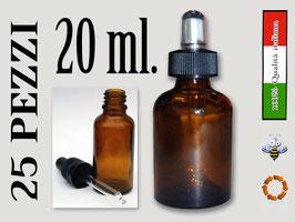 Confezione 25 pezzi boccetta propoli + pipetta 20 ml.