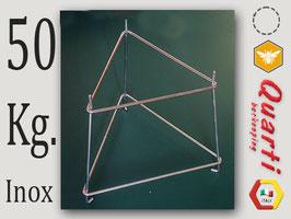 Supporto Quarti in acciaio inox per maturatore da 50 kg.