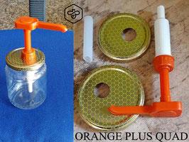 """Dosatore per miele Arancio """"Quadro"""" su capsula da 500 e 1000 gr."""