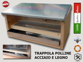 Trappola per polline in acciaio + legno PRO