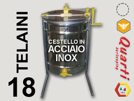 Smelatore inox 18 telaini manuale  con cestello in acciaio inox quarti diametro 620 mm.