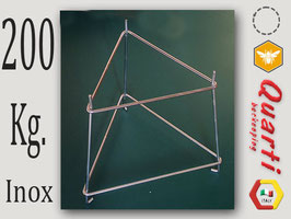 Supporto Quarti  in acciaio inox per maturatore da 200 kg.