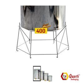 Supporto Quarti  in acciaio inox per maturatore da 400 kg.