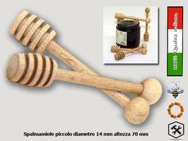 Spargimiele in legno di faggio piccolo mm. 77