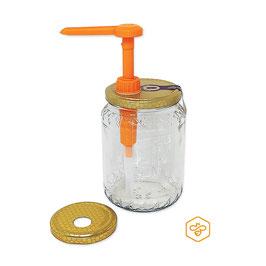 Dosatore per miele Orange plus su capsula da 500 e 1000 gr.