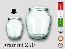 Vaso ad orcio con tappo a vite gr. 250 di miele Confezione 30 pezzi