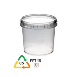 Vaso in plastica trasparente kg 1 per miele