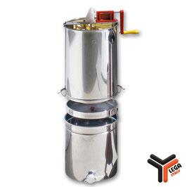 Smelatore inox tangenziale 4 telaini con filtro inox e maturatore 50 kg.