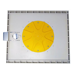 Apiscampo a stella in plastica su tavoletta con saracinesca 43X50