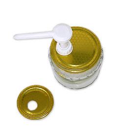 50 Dosatori per miele bianco su capsula da 500 e 1000 gr.