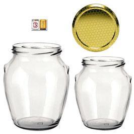 Vaso ad orcio con tappo a vite gr. 500 di miele Confezione 11 pezzi