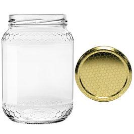 Vaso vetro alveolo per miele con capsula da 1000 gr. | 210 vasi, 14 pacchi