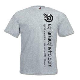 Maglietta Agraria Ughetto Apicoltura grigio melange + logo nero
