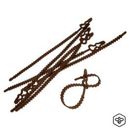 Fascetta-Legaccio per agricoltura marrone | 50 pezzi
