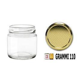 Vasetto vetro ml. 110 per assaggi con capsula Confezione 32 pezzi