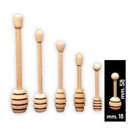 Spargimiele in legno di faggio mini lux mm. 58